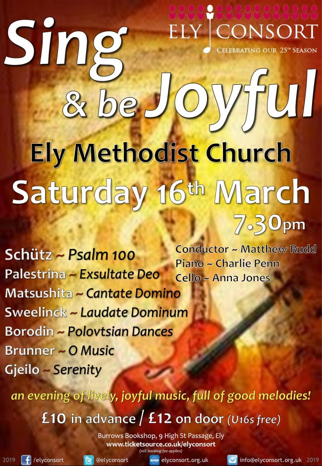 Ely Consort-Sing And Be Joyful Poster