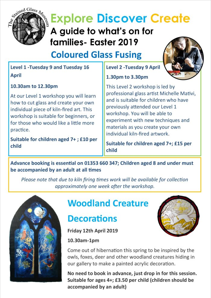 Family events at Ely Stained Glass Museum