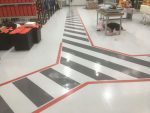 Factory resin flooring