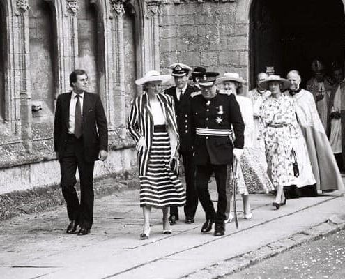 Diana Visits Ely 1987